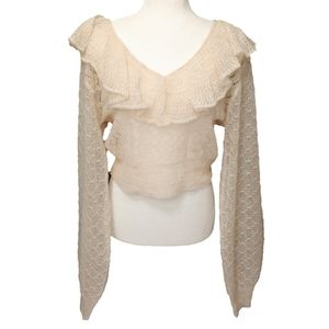 🆕Free People 🚺 Knit Cropped Mohair Wool V-neck